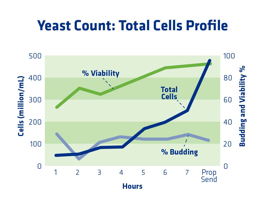Figure 8. Example yeast propagator profile when propagation time was too long.