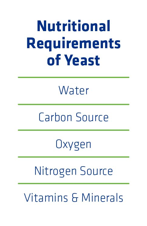 Figure 2. Nutritional requirements of yeast.